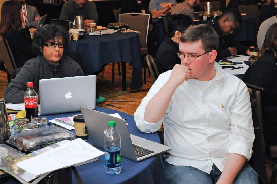 Dyana Bagby, editor of Atlanta's The GA Voice, works alongside me at 2014's LGBT Media Journalists Convening in Washington, D.C. Photo Credit: LGBT Media Journalists Convening.