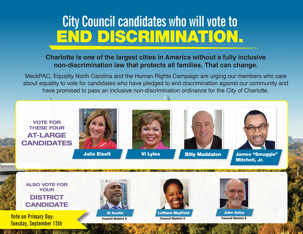 Gay campaign ads arrive in Charlotte voters' mailboxes